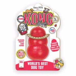 אריזת משחקים לכלבים קונג אדום