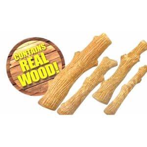 עצם לכלבים בצורת בול עץ