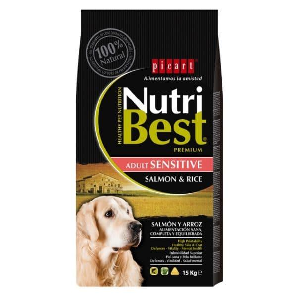 """אריזת אוכל לכלבים נוטרי בסט סלמון ואורז 15 ק""""ג"""
