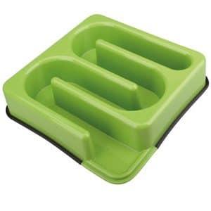 קערת אוכל לכלבים בצבע ירוק