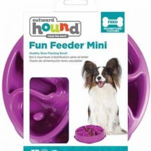 קערת אוכל לכלבים בצבע סגול